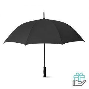 Luxe paraplu 27 inch zwart bedrukken