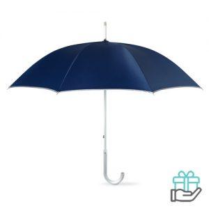 Luxe paraplu UV bescherming blauw bedrukken