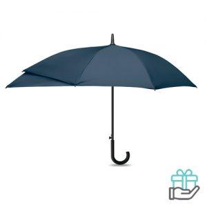 Luxe paraplu verlengstuk blauw bedrukken