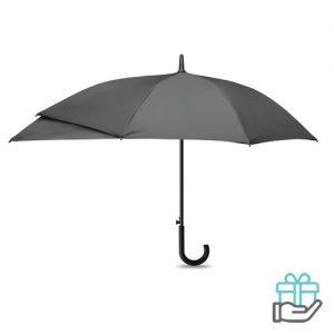 Luxe paraplu verlengstuk grijs bedrukken