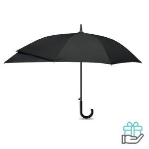 Luxe paraplu verlengstuk zwart bedrukken