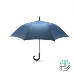 Luxe windbestendige paraplu pongee blauw bedrukken