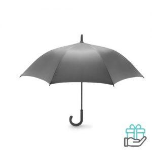 Luxe windbestendige paraplu pongee grijs bedrukken