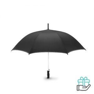Luxe windbestendige paraplu pongee wit bedrukken
