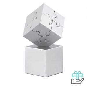 Metalen 3D puzzel mat zilver bedrukken