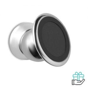 Metalen telefoonhouder magneet zilver bedrukken