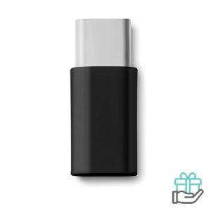 Micro USB type C adapter zwart bedrukken