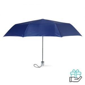 Mini damesparaplu blauw bedrukken