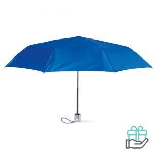 Mini damesparaplu koninklijk blauw bedrukken