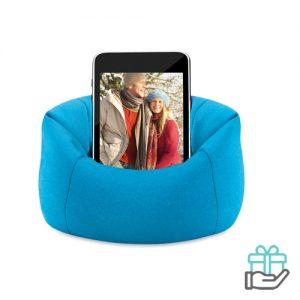 Mobiele telefoonhouder blauw bedrukken