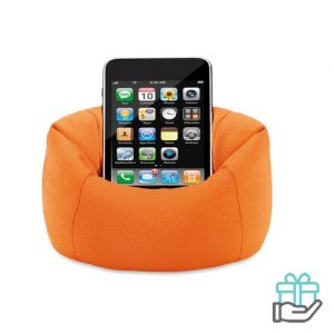 Mobiele telefoonhouder oranje bedrukken