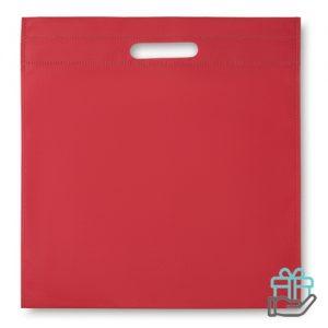 Nonwoven documententas rood bedrukken