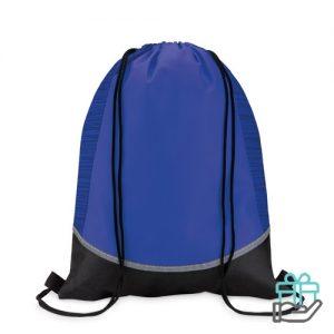 Nonwoven rugzak reflectie blauw bedrukken