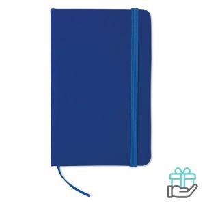 Notitieboekje A6 cover PU blauw bedrukken