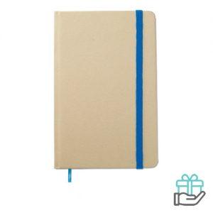 Notitieboekje A6 gerecycled blauw bedrukken