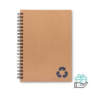 Notitieboekje ringband steenpapier blauw bedrukken