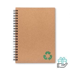 Notitieboekje ringband steenpapier groen bedrukken