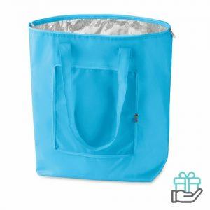 Opvouwbare koeltas poly baby blauw bedrukken