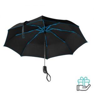Opvouwbare paraplu gekleurde baleinen koninklijk blauw bedrukken