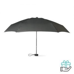 Opvouwbare paraplu pongee EVA hoes zwart bedrukken