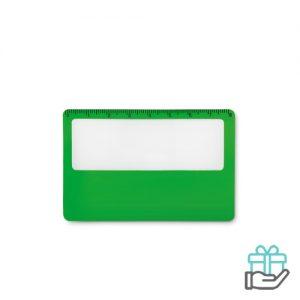 PVC vergrootglas groen bedrukken