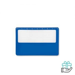 PVC vergrootglas koninklijk blauw bedrukken