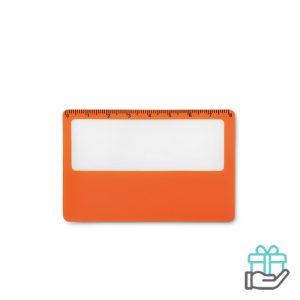 PVC vergrootglas oranje bedrukken