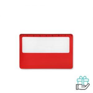 PVC vergrootglas rood bedrukken