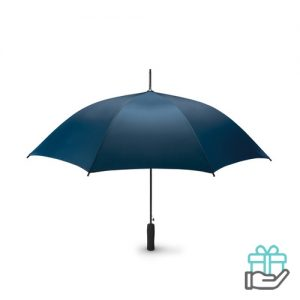 Paraplu EVA handvat 23 inch pongee blauw bedrukken