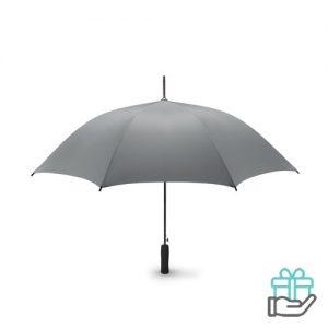 Paraplu EVA handvat 23 inch pongee grijs bedrukken