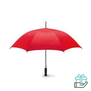 Paraplu EVA handvat 23 inch pongee rood bedrukken