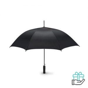 Paraplu EVA handvat 23 inch pongee zwart bedrukken