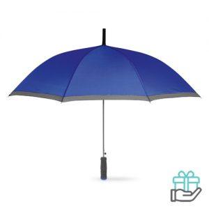 Paraplu EVA handvat blauw bedrukken