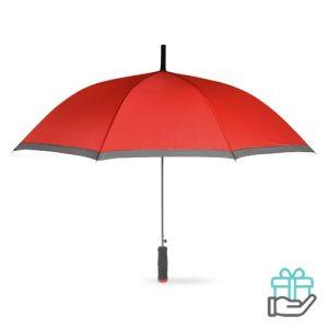 Paraplu EVA handvat rood bedrukken