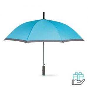 Paraplu EVA handvat turquoise bedrukken