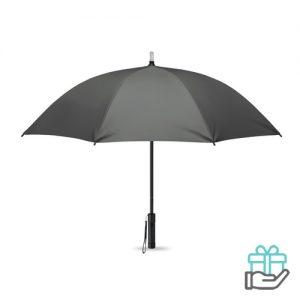 Paraplu LED lampjes grijs bedrukken