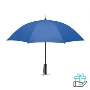 Paraplu LED lampjes koninklijk blauw bedrukken