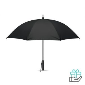 Paraplu LED lampjes zwart bedrukken