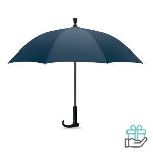 Paraplu wandelstok blauw bedrukken