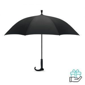 Paraplu wandelstok zwart bedrukken