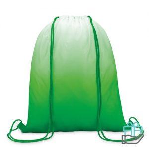 Polyester rugzak kleurverloop groen bedrukken