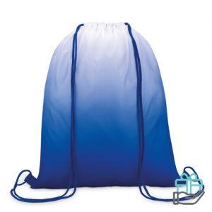 Polyester rugzak kleurverloop koninklijk blauw bedrukken