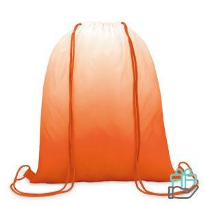 Polyester rugzak kleurverloop oranje bedrukken