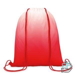 Polyester rugzak kleurverloop rood bedrukken