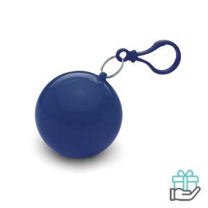 Poncho kunststof bal blauw bedrukken