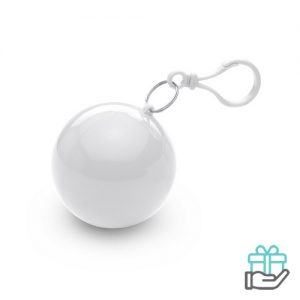 Poncho kunststof bal wit bedrukken