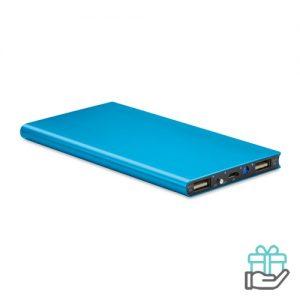 PowerBank 8000mAh alu blauw bedrukken
