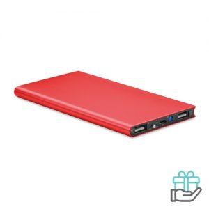 PowerBank 8000mAh alu rood bedrukken