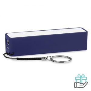 PowerBank sleutelhanger 2200mAh blauw bedrukken