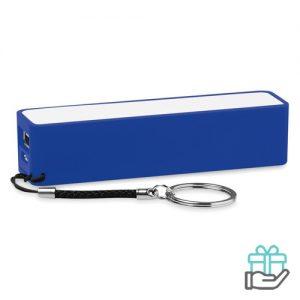 PowerBank sleutelhanger 2200mAh koninklijk blauw bedrukken